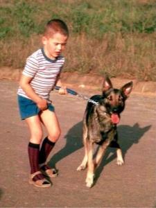 Dog-fancier Marco with Diana 1964