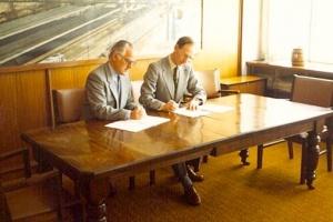 Locomotive Contract Signing 1980 Bulawayo_Nigel Leaa-Cox