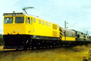 NRZ Electric locomotive EL1 class N° 4102 on test in Zimbabwe